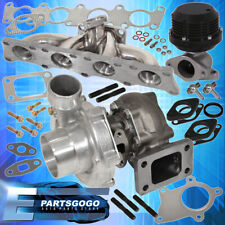 1.8T Audi Vw Stainless Steel Exhaust Manifold + T3/T4 Turbo + Wastegate Black