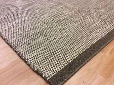 Cream Brown Handwoven Modern Reversible Wool Dhurrie Rug Kilim 140x200cm 60%OFF