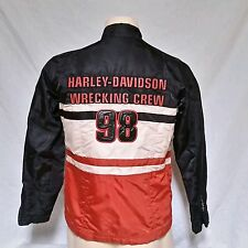 Harley Davidson Motorcycle Jacket Riding Nylon Wrecking Crew Biker Womens Medium