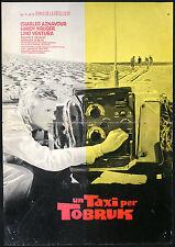 cinéma-fotobusta UN TAXI POUR TOBROUK aznavour,l. ventura