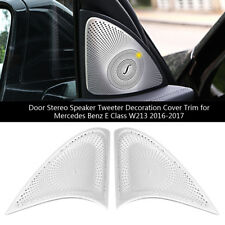 2pcs Door Speaker Cover Chrome Decals Trim for Mercedes Benz E Class W213 16-17