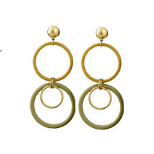 ZARA VINTAGE STYLE ACRYLIC HOOP  STUD EARRINGS