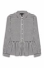 -% ex ATMOSPHERE PRIMARK Checked Gingham Peplum Shirt MUST HAVE UK 6-20