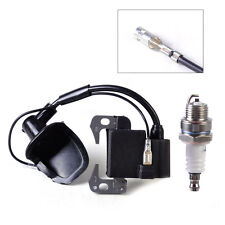 New Motorcycle Ignition Coil & Spark Plug fit 49cc 2 Stroke Engine Dirt ATV Bike