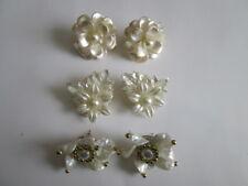 Fancy Plastic earings Per lot of 3 sets