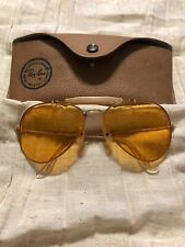 Vintage Ray Ban Outdoorsman, Gold Framed Made by Bausch and Lomb