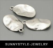 10x Tibet Silber Anhänger Charm oval 14x25mm ms434