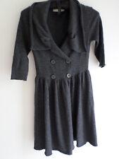 STELLA McCARTNEY grey wool/cashmere cardigan, size 38/ UK6-8, New