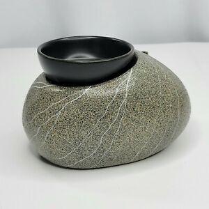 Scentsy Zen Rock Element Wax Warmer Tranquility Spa Look Gray Black Retired