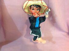 Vintage Antique Dancing Puppet Marionette Mexican Bandit Bandito Gun     E
