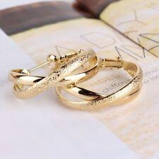 Ohrringe Gold Creolen 14 Karat Schmuck 14K Luxus Vergoldet Goldfarben Damen Neu