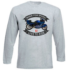 BMW K1 - GREY LONG SLEEVED TSHIRT- ALL SIZES IN STOCK