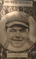 Babe Ruth Mid Week Pictorial Magazine COVER ONLY Classic Image RARE Hard To Find