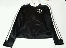 Juicy couture Black/Ivory Athletic Track Jacket with Juicy Crest size large
