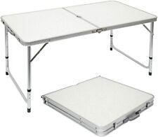 Mesa para Acampada 120x60x70cm de Aluminio Plegable portátil con maletín