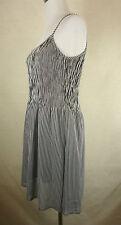 Tolles BETTY BARCLAY Sommer Träger Kleid, Tunika schwarz-weiß gestr.  Gr. 36