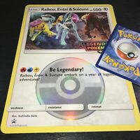 POKEMON JUMBO RAIKOU ENTEI SUICUNE OVERSIZED PROMO CARD HOLO (BRAND NEW)