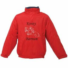 PERSONALISED PRINTED RIDING JACKET HORSE PONY SHOW JUMPING REGATTA ADULT KIDS