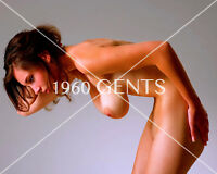 """NUDE 8X10 PHOTO OF BUSTY BIG BREASTS """"HANGERS"""" BIG NIPPLES AREOLAS TITS H1"""