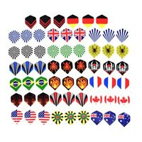 60pcs/lot dart flights in 20 kinds of patterns darts fin feather accessory new.