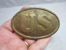 US army Civil War brass belt buckle