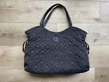 MINT TORY BURCH Marion Quilted Nylon Baby Diaper Bag Black Purse Duffle Tote