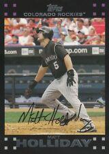 Matt Holliday 2007 Topps Baseball Card #290 Colorado Rockies NM+/Mint