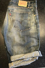 Mens Denim Shorts | Levis Vintage | LVC | 505Z XX | 36in | Selvedge Seam | Big E