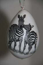 gourd ornament with zebras
