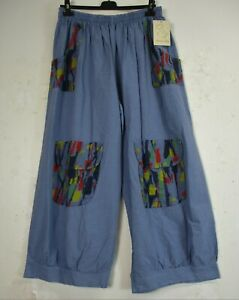 *SPECIAL OFFER* Lagenlook  Linen/Cotton Mix Baggy  Trousers One Size:Plus:16-20