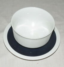 Arzberg pattern 3391 Athena Shape White with Cobalt Blue Band Gravy & Underplate