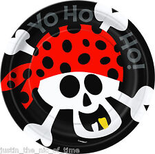"PIRATE FUN Boys Or Girls Birthday Party Tableware Paper Plate 7"" PLATES x8"