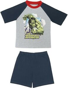 Avengers Incredible Hulk Summer Short Pyjamas. Age 7-8 Years. Brand New