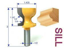 "1 pc 1/2"" SH Window Sill, Stool Molding & Door Pull Edge Router Bit S"