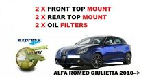 FOR ALFA ROMEO GIULIETTA 2010-> 2X FRONT TOP MOUNTS 2X REAR TOP MOUNTS 2X FILTER
