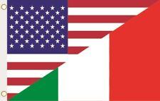 Fahne Flagge USA-Italien Hissflagge 90 x 150 cm