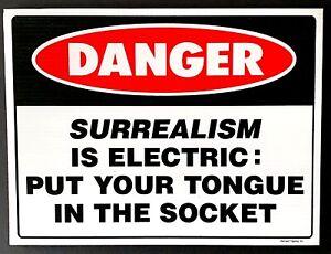 Richard Tipping - Surrealism is Electric: Put...  1993 screenprint