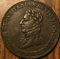 1812 LOWER CANADA HALF PENNY TOKEN WELLINGTON SALAMANCA MADRID REEDED VERTICALLY