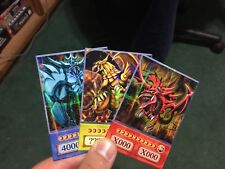 Yu-Gi-Oh! OriCa Anime Style Egyptian God Cards! Set of 3 Parallel Holo!