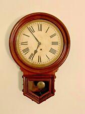 New ListingAntique Ansonia Round Drop Wall Clock Regulator