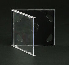 50 Custodie CD Doppie Nere - CD Jewel BOX Nero per 2 CD/DVD - Spedizione Gratis