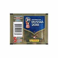 5X PANINI ALBUM STICKER FIFA WORLD CUP RUSSIA 2018 5 PACKS TOTAL 25 STICKERS
