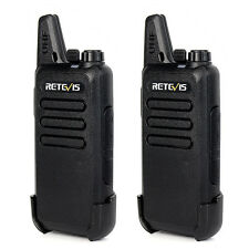2X Walkie Talkies Retevis RT22 2W UHF 16CH TOT VOX Scan Squelch Two Way FM Radio