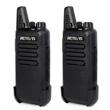 2pcs Walkie Talkies Retevis RT22 2W UHF 16CH TOT VOX Scan Squelch Two Way Radio
