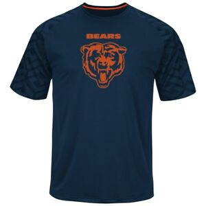 """Chicago Bears Majestic NFL """"Skill in Motion"""" Men's Cool Base T-Shirt"""