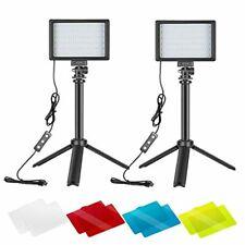 Neewer 2 Packs Portable Photography Lighting Kit Dimmable 5600K USB 66 LED Video