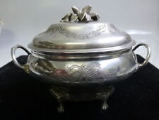 19th Century Judaica Silver Spice Box With Beautiful Etched Design
