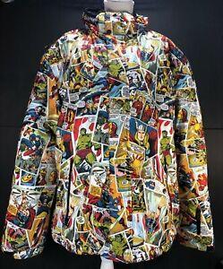 Marvel Comics Fun Wear Unisex Adult Snow Jacket Size XL Excellent Pre-Owned