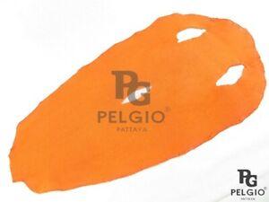 PELGIO Genuine Stingray Shagreen Skin Diamond Leather Soft Hide Pelt Orange