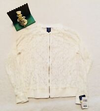 NWT Beauty and the Beast L womens juniors jacket lace white disney zip cute